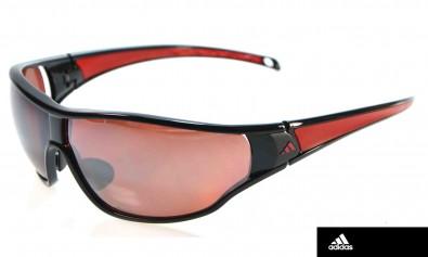 adidas L a191/ 6051 Tycane inkl. Sehstärkenclip und Polarisierende Gläser shiny black /red