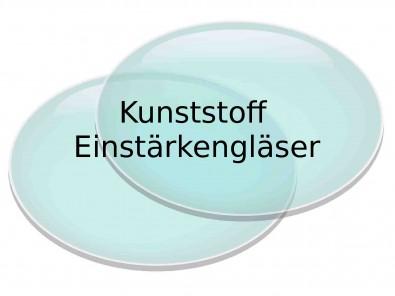 2 Einstärken Kunststoffbrillengläser  Hartschicht Superentspiegelung