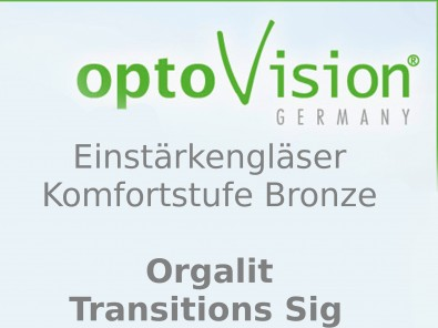 OptoVision Einstärkengläser Orgalit Tansition Sig  i-Protection S