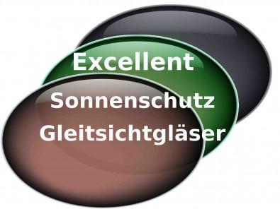 Excellent Sonnenschutz Gleitsichtgläser  Hart Superentspiegelung